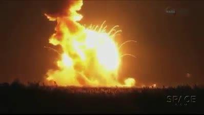 انفجار مشک آنتارس ناسا