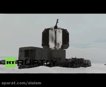 استقرار اس 300 در مرزهای شمالی روسیه + فیلم