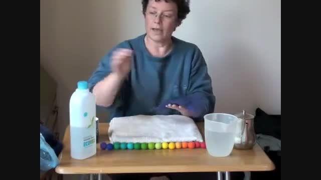 آموزش ساخت توپک نمدی با پشم طبیعی