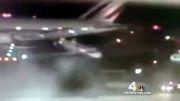 تصادف هواپیما در فرودگاه