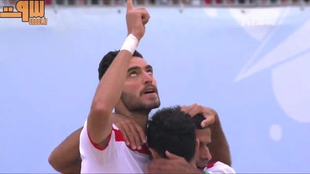 لحظات حساس بازی ایران - مکزیک جام جهانی فوتبال ساحلی