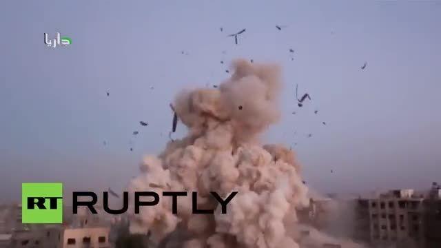 یک انفجار بزرگ در سنگر گروه های تروریستی داعش سوریه