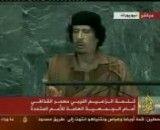 سخنرانی قذافی در سازمان ملل