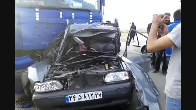 تصادف هولناک پراید ماکو (اذربایجان غربی)