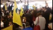 ورود کردها به ساختمان اتحادیه اروپا در حمایت از کوبانی