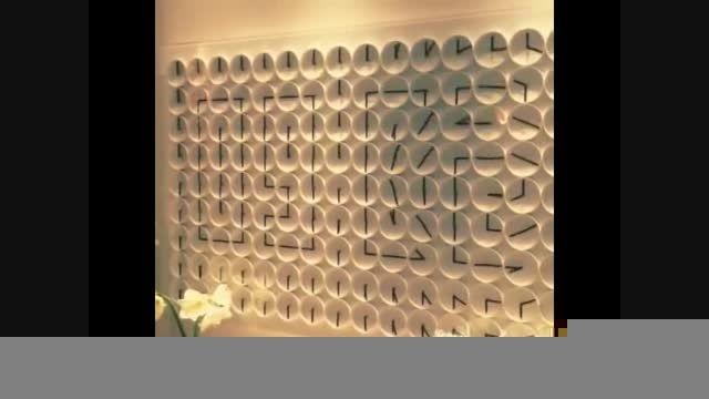 ساعت دیواری خلاقانه و فوق العاده دیدنی