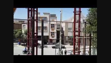 """گزارش تصویری """"نصب گلدسته های مسجد حضرت اباالفضل علیه ال"""