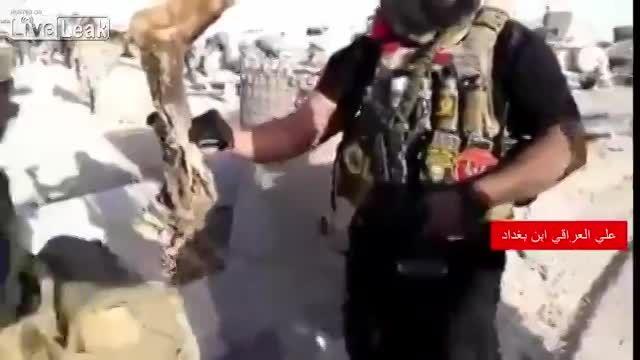 داعشی آرد شده در دست ابوعزرائیل