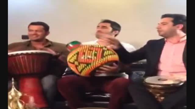 دورهمی بازیگران و خواننده ایرانی در شام ایرانی