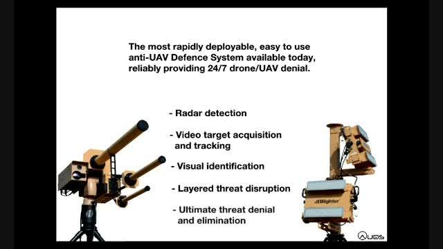 سلاح الکترو-اپتیکی برای شکار پهپادهای کوچک و ریزپهپادها