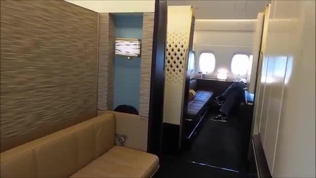 تجربه سفر با ایرباس A380 در قسمت First Class