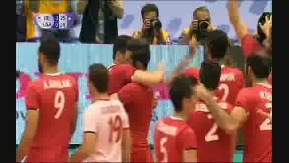 والیبال ایران ۳ بر ۰ آمریکا را شکست داد