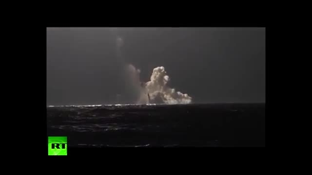 آزمایش موشک بالستیک قاره پیمای روسی Bulava از زیردریایی