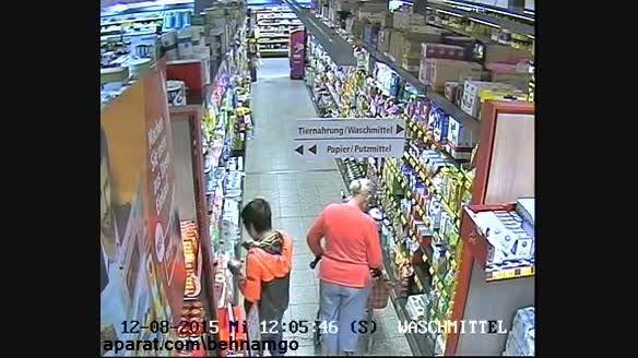 دزدی عجیب از دختر در فروشگاه...!