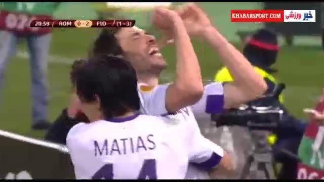 مصدومیت بازیکن فیورنتینا پس از شادی گل!