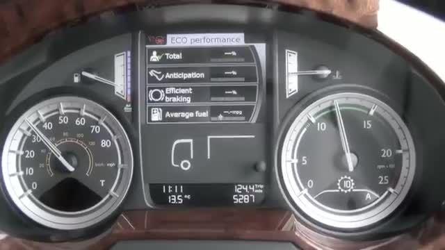 معرفی دستیار راننده کامیون داف xf یورو 6