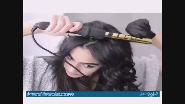 خودتان در خانه موهایتان را فر کنید