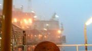 بارندگی در سکوهای دریایی خلیج فارس