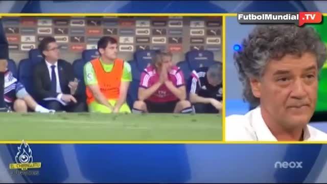 واکنش های ایکر کاسیاس روی نیمکت در بازی رئال - اسپانیول