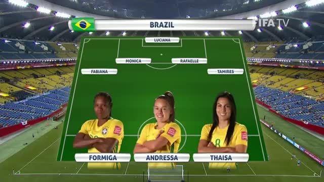 ترکیب : برزیل VS کره جنوبی (جام جهانی زنان 2015 کانادا)