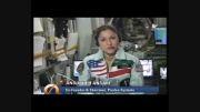 تشکر انوشه انصاری از مردم ایران با لباسی خاص! (در فضا)