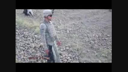 لگدشتر افغان به تفنگدار آمریکایی!تقدیم به عاشقان آمریکا