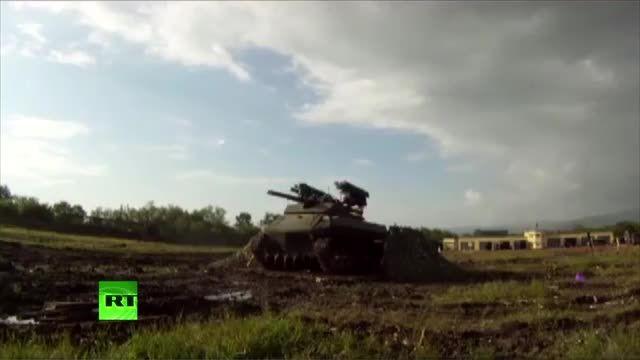 آزمایش موفق سلاح جنگجوی رباتیک روسیه به نام URP-01G