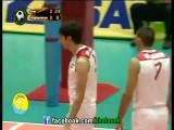 دست دادن والیبالیستهای ایرانی با داور زن
