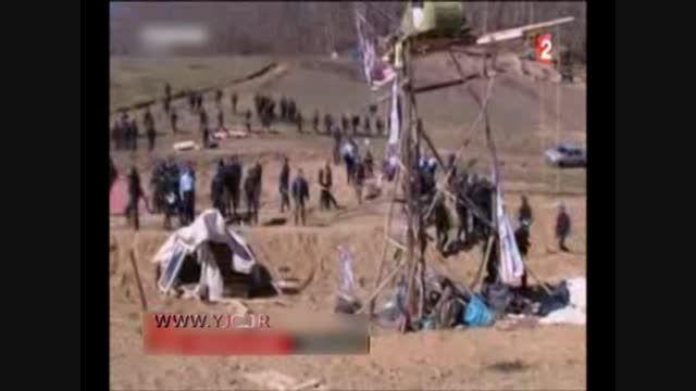 درگیری پلیس فرانسه با مخالفان ساخت یک سد!!