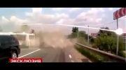 مرگ 18 مسافر اتوبوس در این صحنه !!