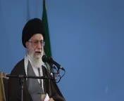 سخنرانی ایت الله خامنه ای در مورد تحدید دو مسئول امریکا