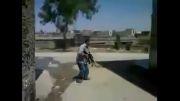 هدف قرار گرفتن تروریست توسط ارتشیان سوریه