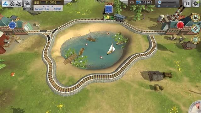گیم پلی بازی کامپیوتر مدیریت ریل های قطار Train Valley
