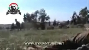 لحظه کشته شدن سرکرده تروریست ها در حلب