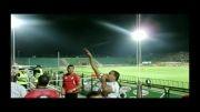 هواداران فولاد خوزستان در استادیوم فولاد شهر اصفهان