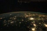شهرهای زمین از ارتفاع ۴۰۰ کیلومتری