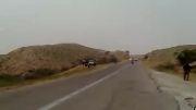 تک چرخ تو جادهای ایران با موتور سنگین