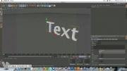 آموزش تبدیل متن به ذرات خرد شده با  Cinema 4D.