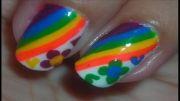 آموزش طراحی ناخن رنگین کمانی!!!