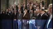 لحظه ثبت عكس یادگاری دولت دهم با رهبر انقلاب