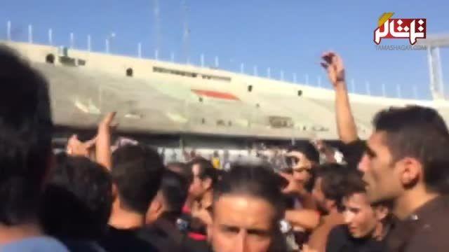 حضور علی کریمی در تشییع پیکر هادی نوروزی