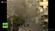تخریب وحشتناک ساختمان مسکونی در غزه بدست اسرائیل!...