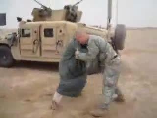 نبرد نابرابر فرد آمریکایی و فرد عربی !!حتما ببینید