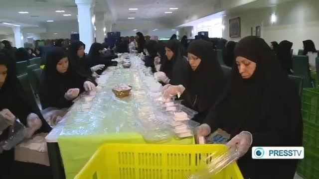 بزرگ ترین سفره ی افطار در مشهد .امام رضا ع