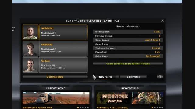 اموزشه فعال کردن مد دربازی Euro Truck Simulator ۲