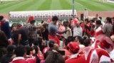 رقصیدن تماشاگران پرسپولیس در بازی با الغراضه