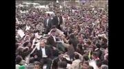 احمدی نژاد بین سیلی از جمعیت در سفر استانی خراسان رضوی