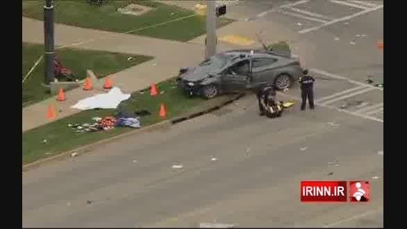 رانندگی یک زن ۴۸ نفر را راهی بیمارستان کرد.