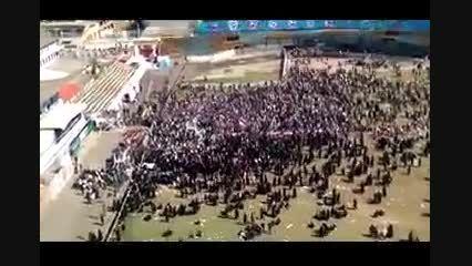تعداد جمعیت استقبال کننده مردم مازندران از روحانی