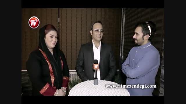 شهرام شکوهی و همسرش در شب رونمایی از کلینیک ملودیشان